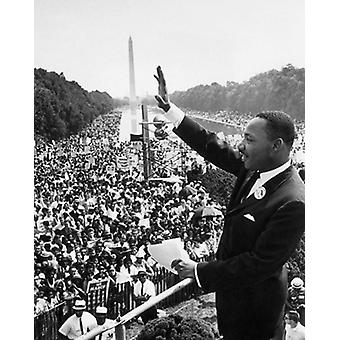 Martin Luther King Jr March on Washington August 28 1963 Poster Print by McMahan Photo Archive (8 x 10)