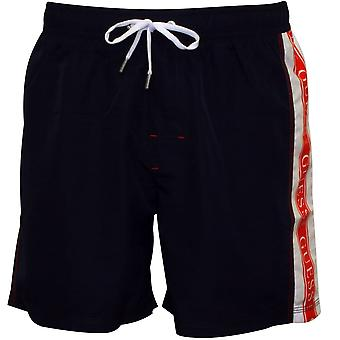 Guess Side Logo Swim Shorts, Navy