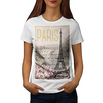 Paris Postcard Women WhiteT-shirt | Wellcoda