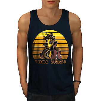 Toxic Summer Death Men NavyTank Top | Wellcoda