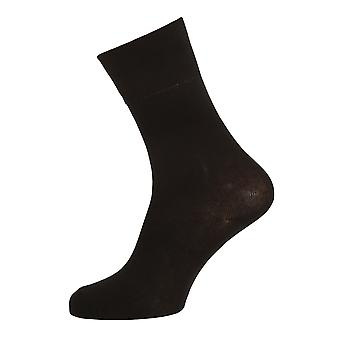 Womens/Ladies Comfort Cuff Non-Elasticated Socks (3 Pairs)