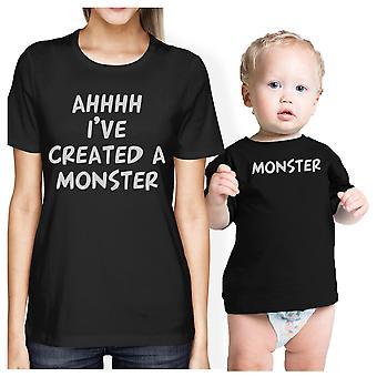 Skabt et Monster mor og Baby matchende gave skjorter spædbarn Tee