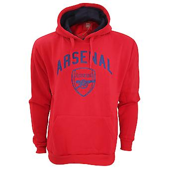 Arsenal FC Mens Official Large Football Crest Pullover Hoodie