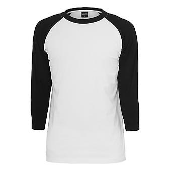 Urban classics men's contrast 3/4 long sleeve