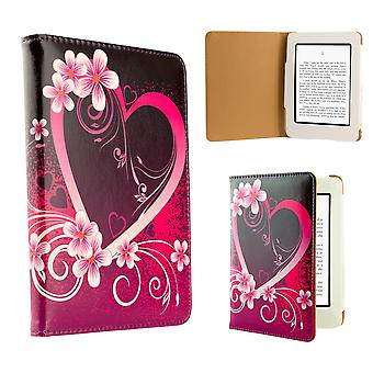 Design book case cover for Amazon Paperwhite E-Reader - Love Heart