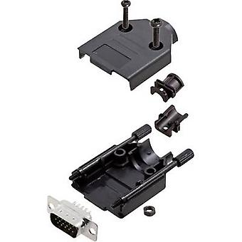encitech DTPK-P-09-HDP15-K 6355-0053-01 D-SUB pin strip set 180 ° Number of pins: 15 Solder bucket 1 Set