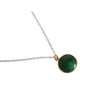 Gemshine-mulheres-colar-925 prata-banhado a ouro-esmeralda-verde-CANDY