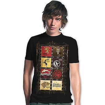 Casette da gioco di troni t-shirt stemma