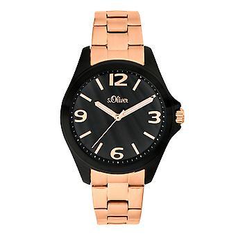 s.Oliver kvinnors watch armbandsur rostfritt stål SO-3683-MQ