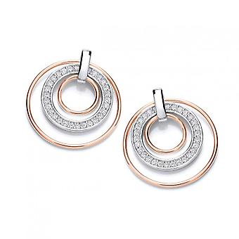 Cavendish French Round Rose Gold and Sparkles Earrings