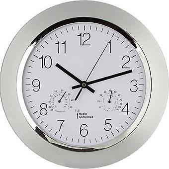 EUROTIME 56004 Radio Wall clock 34 cm x 5 cm Silver
