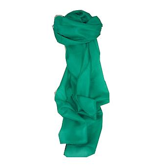 Mulberry Silk Hand Dyed Long Scarf Teal from Pashmina & Silk