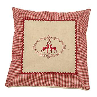 HanSen pine cushion filled with pine shavings 40x40cm country house style linen deer