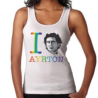 I Heart Ayrton Senna Rainbow Women's Vest