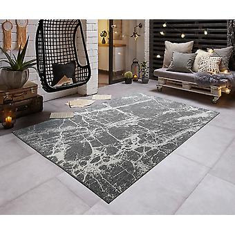 Modern in - & Outdoorteppich flat fabric turn carpet STONE marble look