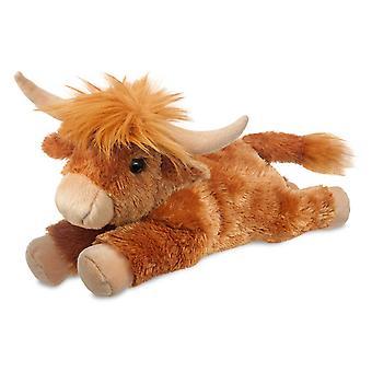 Aurora Flopsies - Hamish Highland Cow Soft Toy 30cm