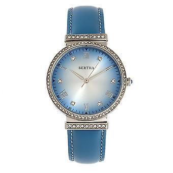 Bertha Allison nahka-Band Watch - sininen