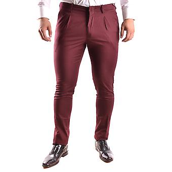 Michael Kors Ezbc063041 Men's Burgundy Cotton Pants