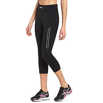 Slazenger naisten korkea vyötärö 3/4 kolme neljäsosaa Capri Running Gym tiukka leggingsit