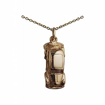 9ct Gold 20x8mm Vintage Car Pendant with a cable Chain 20 inches