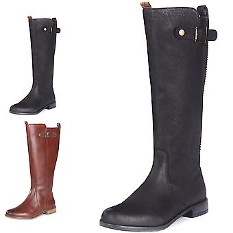 Womens Barbour Rebecca Waxy Suede Winter Closed Toe Fashion Knee Boots