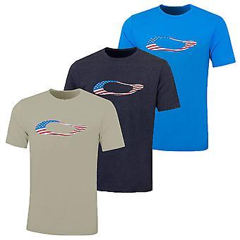 Oakley Mens Ellipse USA Lichtgewicht Duurzaam T-shirt