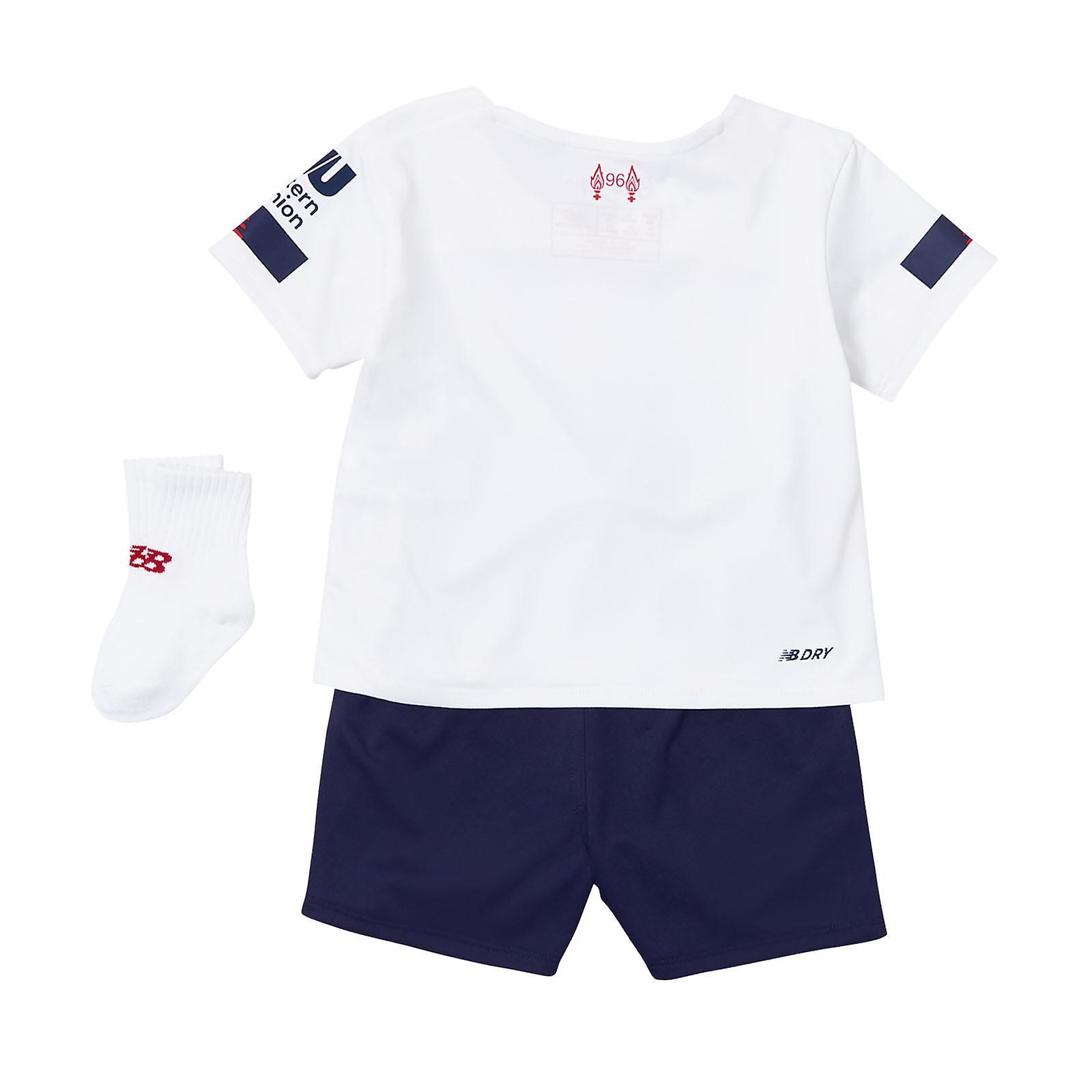New Balance Liverpool 2019/20 Kids Baby Toddler Away Football Kit White