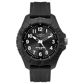 Limit | Mens Active Adult Analogue | Black Rubber Strap | 5754.01 Watch