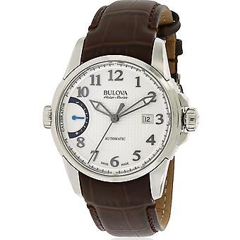 Bulova AccuSwiss calibrateur cuir automatique Mens Watch 63B171