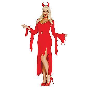 Womens hon-Devil Halloween fancy dress kostym storlek 14-16