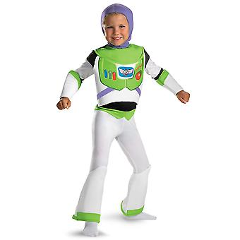 Buzz Lightyear Deluxe Spaceman Disney Toy Story Toddler Boys Costume 3T-4T