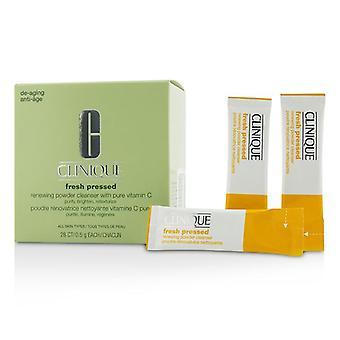 Clinique Fresh pressionado detergente em pó renovador com vitamina C pura-todos os tipos de pele-28x 0.5 g/0.01 Oz