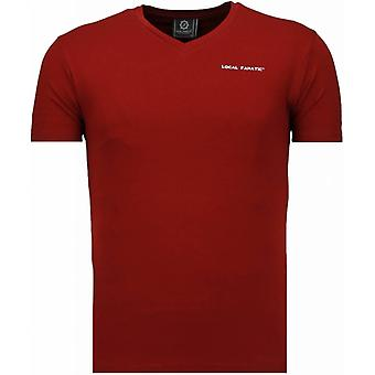 Basic V Neck - T-Shirt - Bordeaux