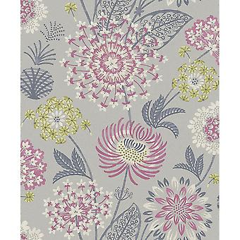 Arthouse Vintage Bloom geschilderd unieke bloemmotief moderne Wild Flower patroon behang 676207