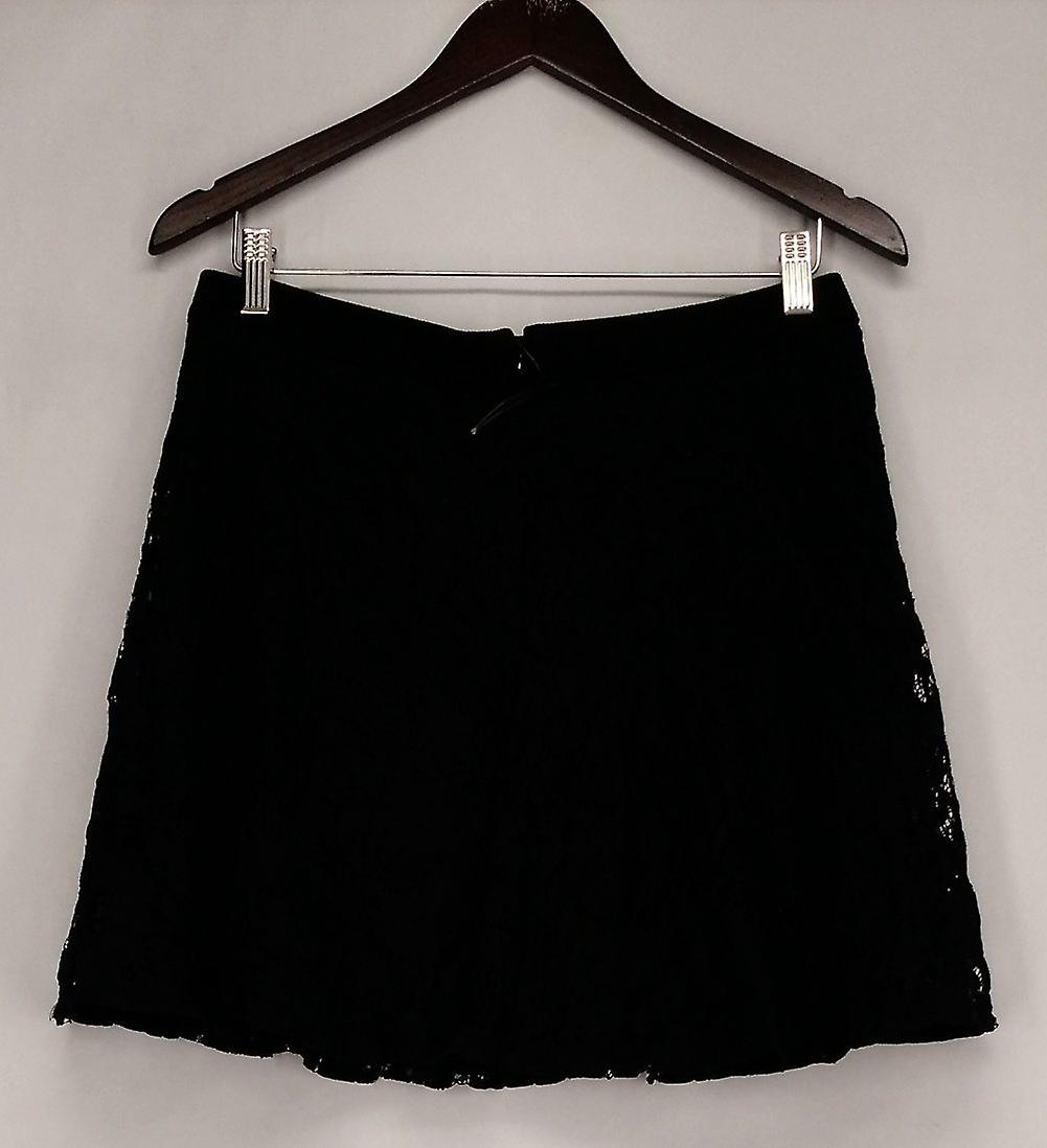 As U Wish Skirt Lace Overlay Zipper Back Solid Waist Black Womens 4CIw2r