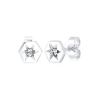 Elli Donna 925 silver vit vit Rotunda kristall 0311882116