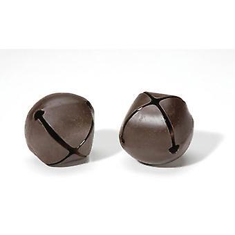 2 Large Rusty 45mm Jingle Bells for Crafts | Craft Bells | Arts & Crafts