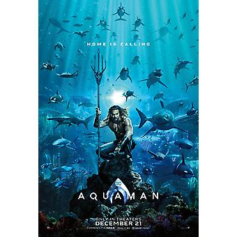Aquaman Original Movie Poster - Double Sided Advance Style