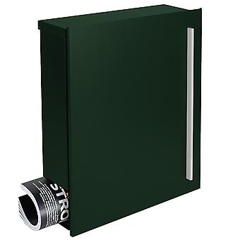 MOCAVI Box 110 Quality letterbox with newspaper compartment fir-green (RAL 6009)