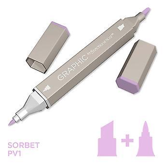 Grafisch door spectrum Noir enkele pennen-sorbet