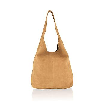 "Suede Shopping Bag 17.0"" Matching Suede Purse"