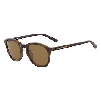 Calvin Klein CK18505S 243 Bursztynowe hawany/brązowe okulary przeciwsłoneczne