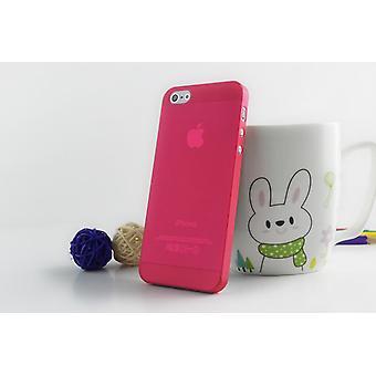 Apple iphone 5 5S Okładka PC Clear 0.3mm Czerwony