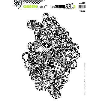 "Carabelle estúdio ""Zentangle"" adere-se carimbo, branco/transparente, 2 X-grande"