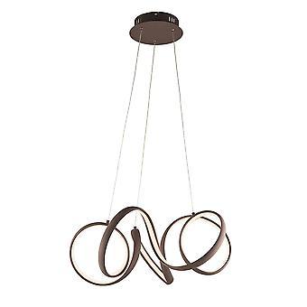 Endon Sinergia LED Pingente luz texturizado café e silicone branco 81889