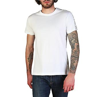 Versace jeans hombres's camiseta blanca b3gtb7s1