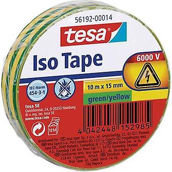tesa 56192-14-02 Ruban électrique Vert, Jaune (L x W) 10 m x 15 mm 1 pc(s)