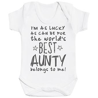 Olen ' m onnekas kuin voi olla paras täti kuuluu minulle! Vauva Body