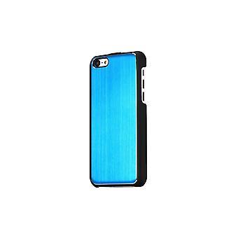Rumpf für schwarzes iPhone 5c und blau gebürstetes Aluminium