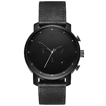 MVMT MC01-BL chrono black leather 45mm 10ATM